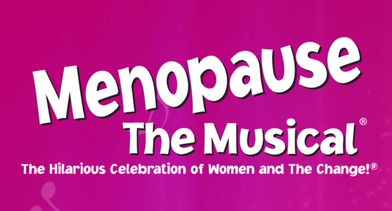title of the play in white lettering on a fuschia pink background
