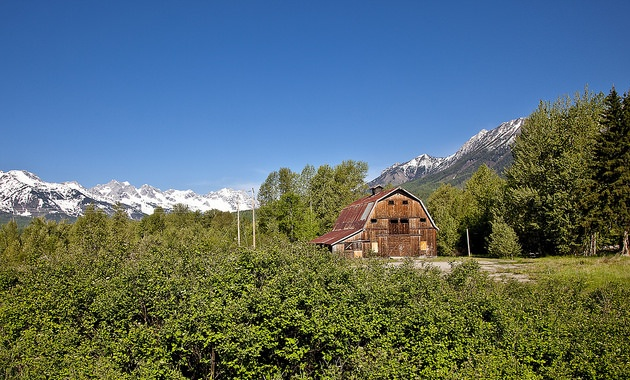 The historical barn will be a central part of the Montane community educational farm development.