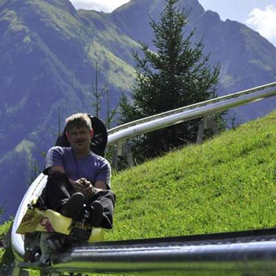 A Brandauer mono-rail mountain coaster in Europe