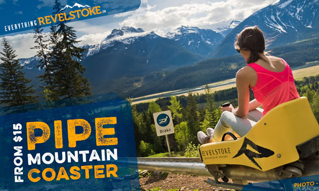 Picture of the mountain coaster at Revelstoke Mountain Resort.