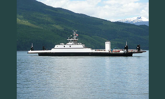 Upper Arrow Lake Ferry is up and running named the MV Columbia