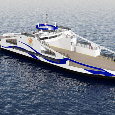 Rendition of new ferry vessel.