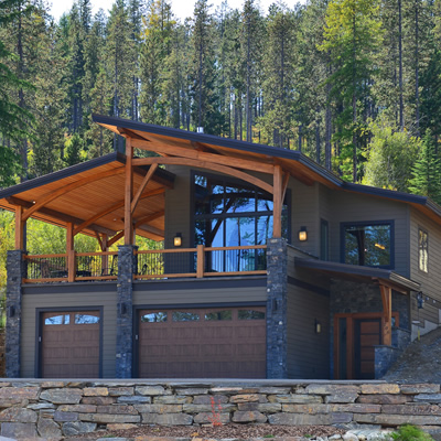 The exterior of an energy-efficient home built by Tyee Custom Homes in Kimberley, B.C.
