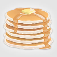 Photo of an animated stack of pancakes