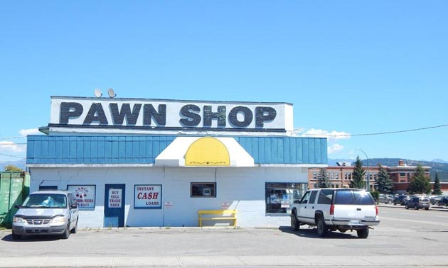 Picture of pawn shop.