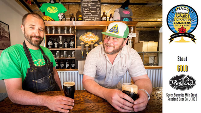 Picture of Petri Raito and Ryan Arnaud, of Rossland Brewing Company.