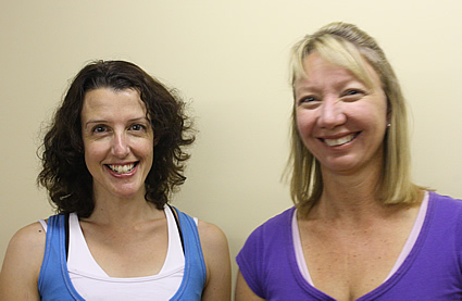 Pinnacle Pilates owner Louise Wight (L) and colleague Carolyn Acason (R)