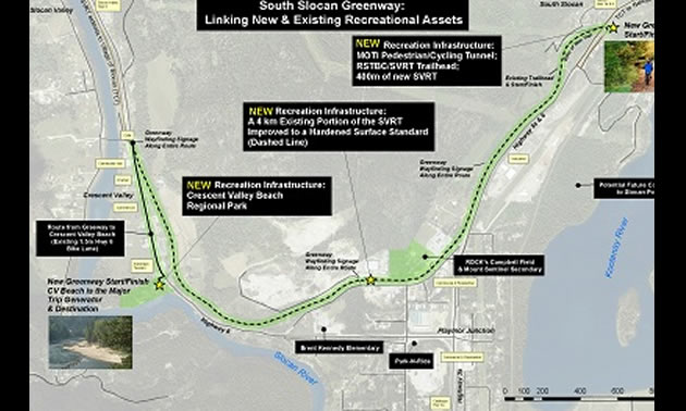 Map of recreation project.