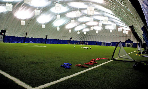 The Kootenay East Youth Soccer Association will build an indoor sports facility like this one, thanks to support from a Columbia Basin Trust Recreation Infrastructure Grant.