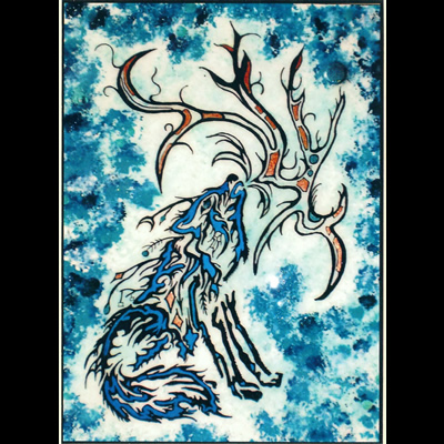Reflecting – Wolf – Juanita Rose Violini -- work by one of the Columbia Kootenay Cultural Alliance featured artists