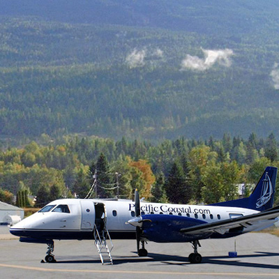 Picture of Pacific Coastal airplane at the Revelstoke airport.