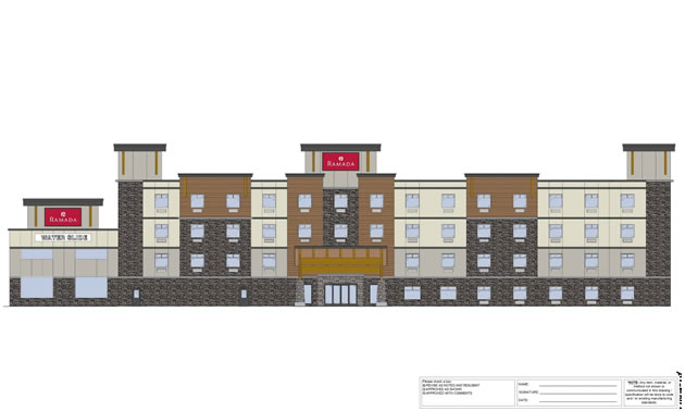 An artist's rendition of the Ramada Inn complex slated for Revelstoke.