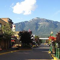 Main street view in Revelstoke British Columbia