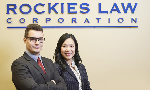Graeme Nunn and Karen Tse, principals at Rockies Law Corporation.