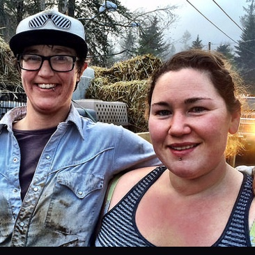 Tammy Murphy (L) and Jessica Piccinin own Quack Me Up! Farm and Hatchery, a duck business that has relocated to Creston, B.C.