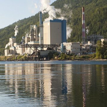 The Zellstoff Celgar pulp mill in Castlegar, B.C.
