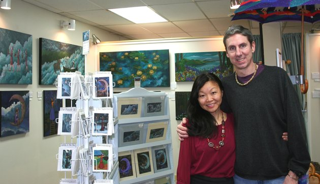 Ting Yuen and Paul Morel run the artist-owned-and-operated Art Rush Gallery in Golden. She's the painter, he's the photographer and they both craft a line of jewelry.
