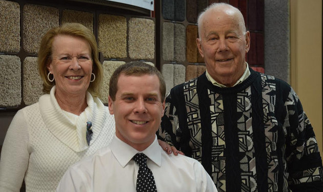 Clint Eaton, owner/operator of Cranbrook Flooring Ltd. with his parents, Harold and Peggy Eaton. Marie Milner photo