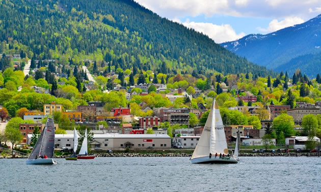 Picture of sailboats in Nelson, B.C.