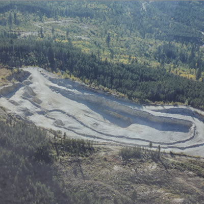 Photo of one of Hi-Test Sand's sand quarries.