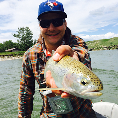 Scott Deydey is an avid fly fishermen, something that being an entrepreneur in Fernie allows him to enjoy.