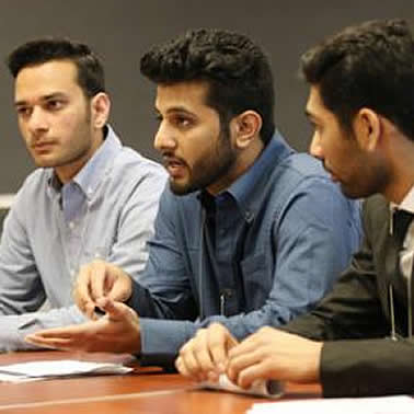 Selkirk College business students during competition