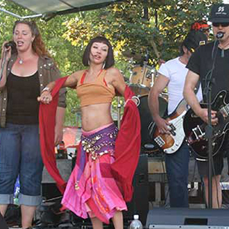 dancers and musicians performing on stage