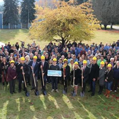 Selkirk College students and staff were joined by industry partners and members of the community for the official ground breaking ceremony.