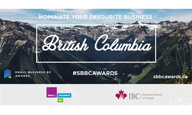 Graphic for the Small Business BC Awards.