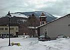 winter scene in a town