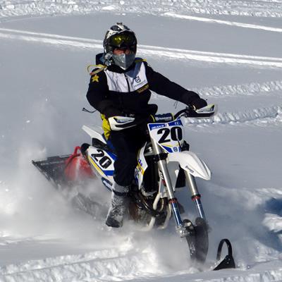 Steve Langevin snow biking
