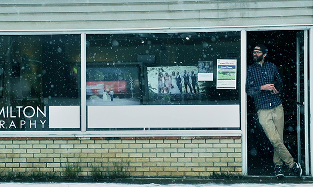 Business storefront.