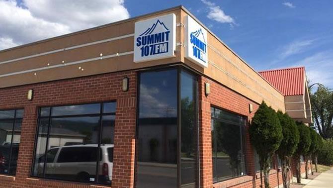 Summit 107 radio station in Cranbrook.