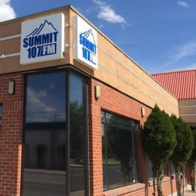 Summit 107 radio station in Cranbrook.