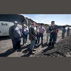 Group of people on a tour at one of Teck Coal's Elk Valley mines.