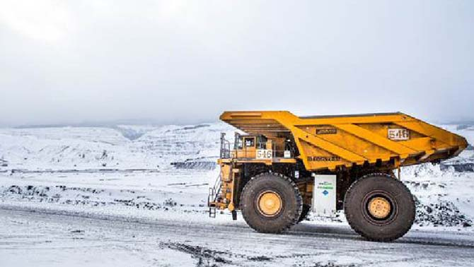 Picture of haul truck.