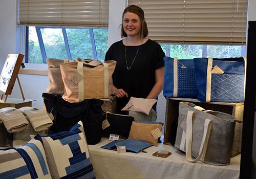 Rebekah Krahn, recent graduate from the Textiles Studo at KSA.