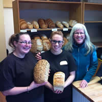 Manager Ruth Jellicoe (right) with Sparwood Loaf employees Karrigan Folvik(middle) and Cora-Lee Campbell (left)