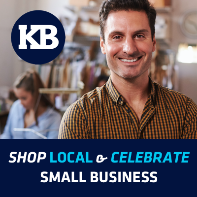 Graphic showing a small business owner.