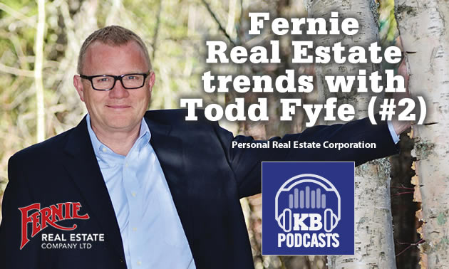 Todd Fyfe, owner and managing broker at Fernie Real Estate in Fernie.