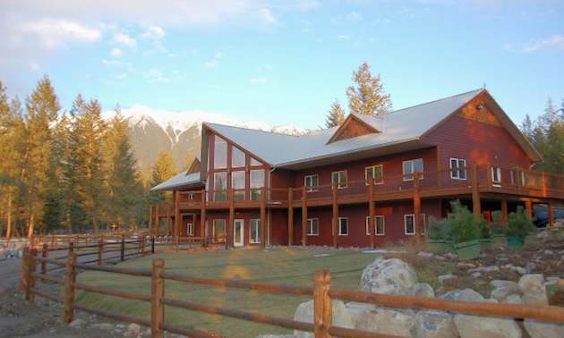 Large building in the Rocky Mountains