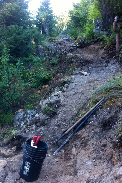 Construction begins on the new Fraser Hill Viewpoint Trail near Crawford Bay.
