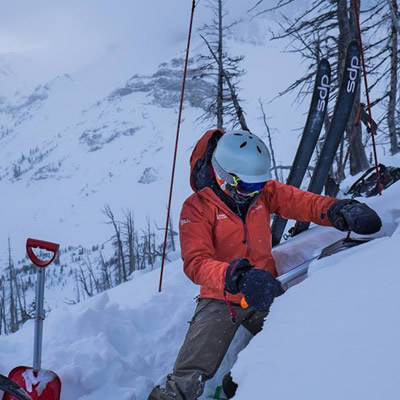 A member of Avalanche Canada's South Rockies Field Team helps keep backcountry users safe. Columbia Basin Trust is committing $450,000 over three years to the organization.