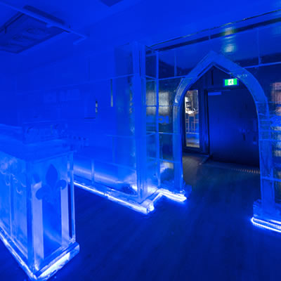 Picture of the Vodka Ice Bar in Fernie.