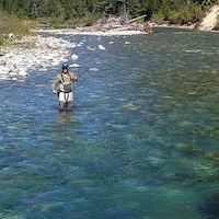 Scott Deydey of Wigwam Media fly fishing on his down time.