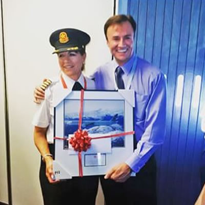 Picture of Judy Cameron, first female pilot for Air Canada.