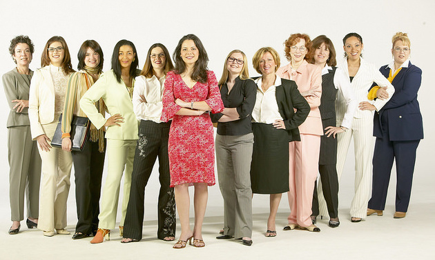 A group of business women standing,