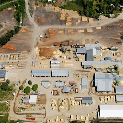 Aerial view of Wynndel Box and Lumber.