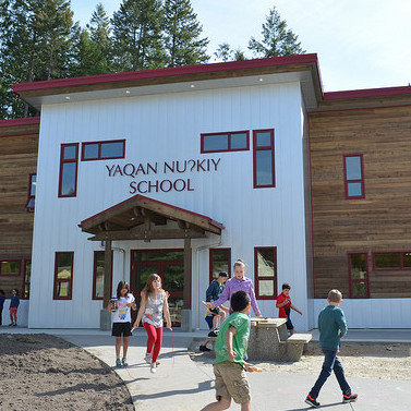 The Yaqan Nukiy School at the Ktunaxa reserve in Creston, B.C., has recently opened a new school building.